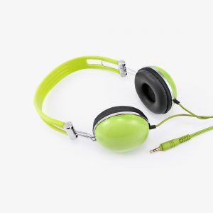 s lime green headphones