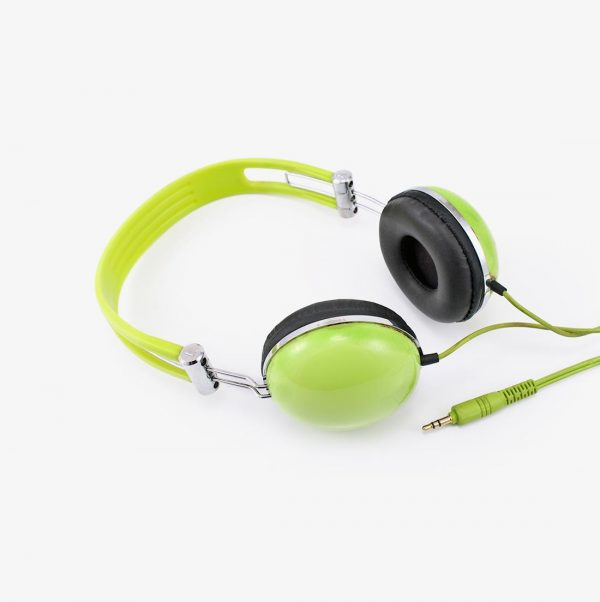 s lime green headphones