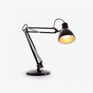s matte black desk lamp
